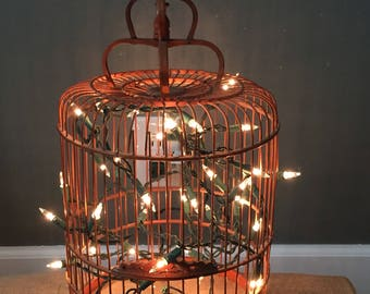 Vintage birdcage light
