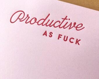 Productive AF Notepad