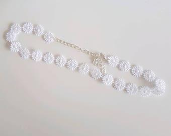 White Flower Choker