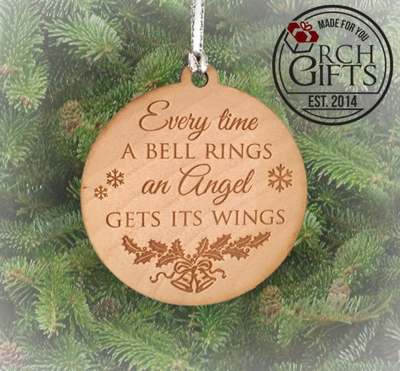 Every time a bell rings an angel gets its wings christmas