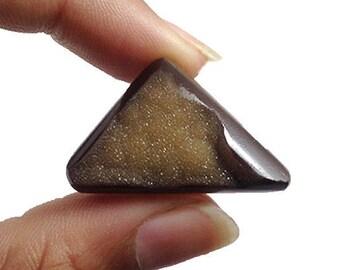 Brown Druzy cabochon 47.5Ct  (34x21x9 mm) Natural gemstone  NS-17028