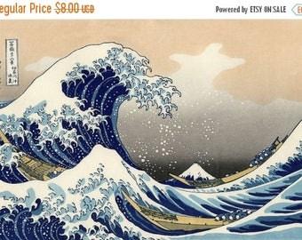 """Counted Cross Stitch Pattern PDF  needlepoint, needlework- The Great Wave off Kanagawa by  Hokusai - 27.57"""" x 19.00"""" - L1109"""