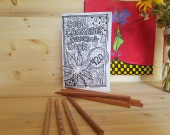 Cool Cannabis Coloring Book/ Adult Coloring Book/ Cannabis Coloring Book/ Weed Coloring Book/ Pot Coloring Book/ Weed Art/ Pot Art/ Cannabis