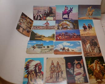 Vintage Native American Postcards - Set of 16 - Western Postcards - Southwest Images - Indian Postcards