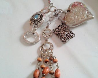 Jewelry bag, metal key holder