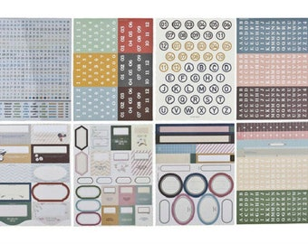 lot 1200 labels scrapbooking, card making (11 sheets)