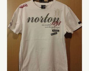 ON SALE 4 Vintage 80s retro Norton Motorcycles since 1898 tee shirt rock cafe racer style