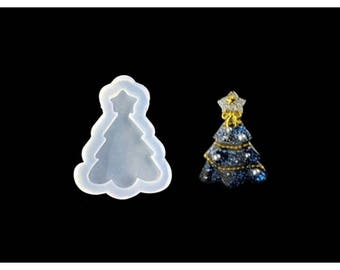 Tree of Christmas 58 mm for creations silicone mold resin polymer clay