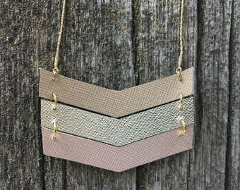 Tides Necklace : Handmade Repurposed Leather