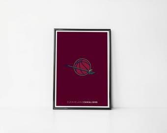 Cleaveland Cavaliers Minimalist | Art Print