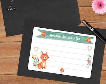 Joyful fox - 8 mailing labels