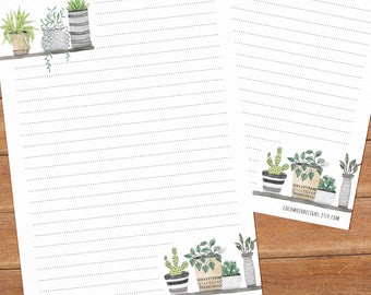 Botanical love - DOWNLOAD file - Printable Writing paper - A5 size