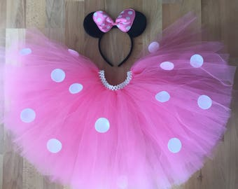 Minnie Mouse Pink Tutu Mouse Ears Costume Halloween costume children and adult sizes