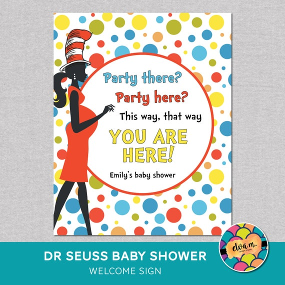 Dr. Seuss Welcome Sign Baby Shower. Personalized Baby ...