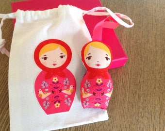 Mini doll taggy and mini sleeping bag.