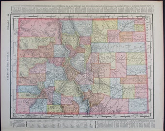 Colorado County Map Etsy - Colorado state map with counties and cities
