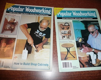 Vintage Popular Woodworking Magazines 1991 Issues