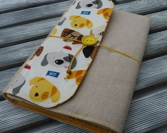 Dogs Book Sleeve, Book Sleeve, Book cover, Fabric book cover, Book pouch, Paperback book cover, Bookish gift, Dog lover, best friend gift