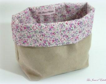 Empty - Pocket suede floral design