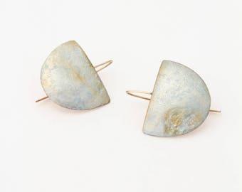 pale blue kintsugi earrings (saved for Esme)