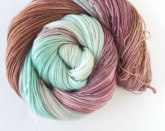 Mint Berries  , hand painted, indie yarn