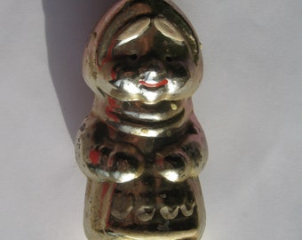 Vintage Soviet glass New Year's Christmas Tree Ornaments USSR 1960 FIREFIGH RARE