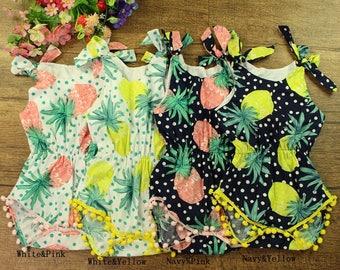 Pre-sale Reactive print 100% cotton toddler romper dress , baby girl bubble romper playsuit shower gift
