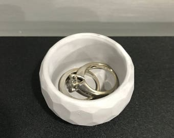Jewerly Dish, Ring Dish, Gift for Her, Cement Dish, Cement Ring Holder