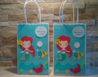 Little Mermaid Goody Bags set of 12 / Mermaid Goody Bags
