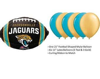 Jacksonville Jaguars Balloons, Jacksonville Jaguars Balloon Bouquet