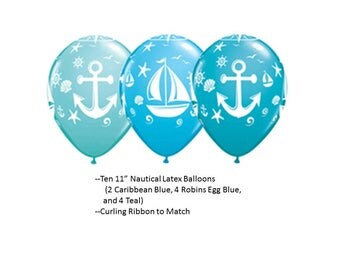Nautical Balloons, Nautical Latex Balloons