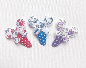 Red, Blue, Purple Butterfly Hair clips, baby snap clips, snap clips, baby hair accessories, toddler hair clips, toddler hair accessories