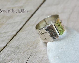 Ring Silver 925 personalized message
