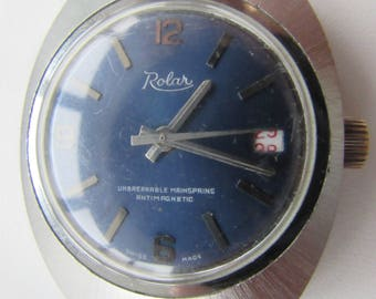 Vintage watches ROLAR Swiss antimagnetic unbreakable mainspring