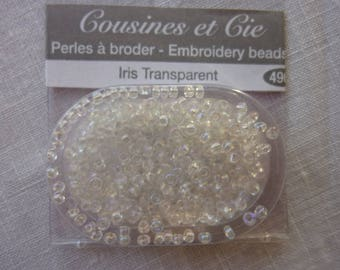 Beads embroidery cousins and companies 4900 transparent iris