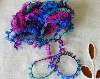 Paper multicolor embroidery thread