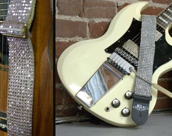 Bling Guitar Strap (SIGNATURE), Crystal Guitar Strap, Sparkly Guitar Strap