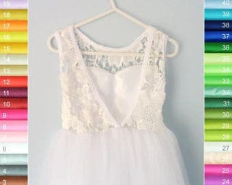 SALE - V-neck dress with a defect (VL#1) - 4-5 yo