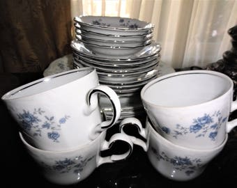 Johann Haviland BLUE GARLAND Bavaria Germany Traditions Fine China Made In Thailand 20 Pc Set 5 Pc Place Set Service for 4