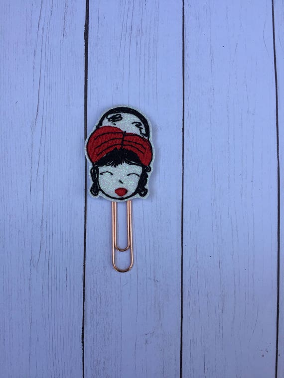 Fashion Girl With Red Headband Planner Clip/Planner Clip/Bookmark. Washi Girl Planner Clip. Fashion Girl Planner Clip. Planner Girl