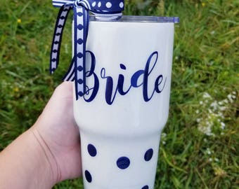 Glitter Tumbler - Glitter Yeti - Bride Tumbler - Bride Coffee Tumbler - Coffee Lover Gift - Glitter Bride Cup - Yeti - Gifts for Bride -