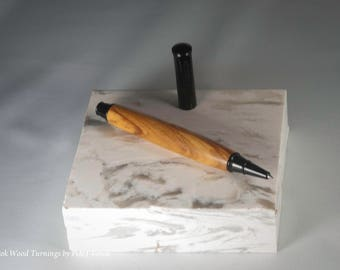 Snap Cap Roller Ball Pen in Olive Wood