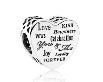 Sterling Silver Celebration Heart Charm