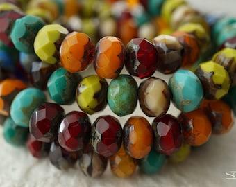 Fall Fashion, Rondelle Beads, Czech Beads, Beads, N2215