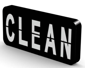 NEW Clean / Dirty Dishwasher Magnet Flip Sign - Super Strong Durable, Waterproof Reversible Dishwasher Magnet - Minimalist