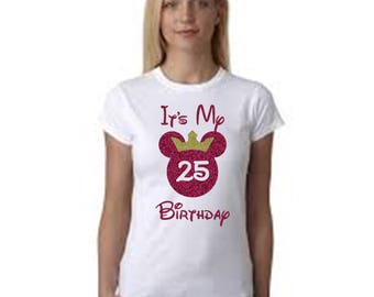 Disney Birthday Shirt| Disney Birthday Girl Shirt |Disney Princess Minnie Birthday Tshirt |Minnie Mouse Birthday|Cute Gift| Celebrating My