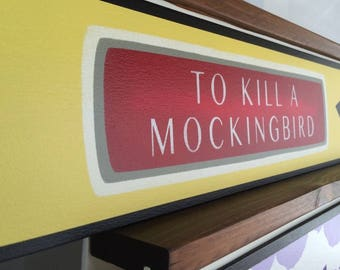 Book Stairs / Book Steps / Book Spines / To Kill A Mockingbird / Harper Lee / Alternative to Stair Riser Decals & Stair Stickers / Item 107
