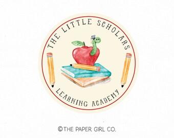 school logo design apple logo design learning centre logo kindergarten logo pre school logo kids logo design tutoring logo premade logo
