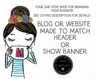 blogger banner blog banner website header web banner you tube banner wordpress banner made to match header for website or blog custom banner