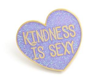 Gift for her, Heart Enamel Pin, Cute Lapel Pin, Glitter Enamel Pin, Heart Jewelry, Bright Purple Enamel Pin